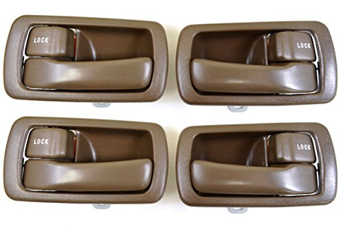 PT Auto Warehouse TO-2532B-QS - Inside Interior Inner Door Handle/Trim, Brown - 2 Left, 2 Right ()