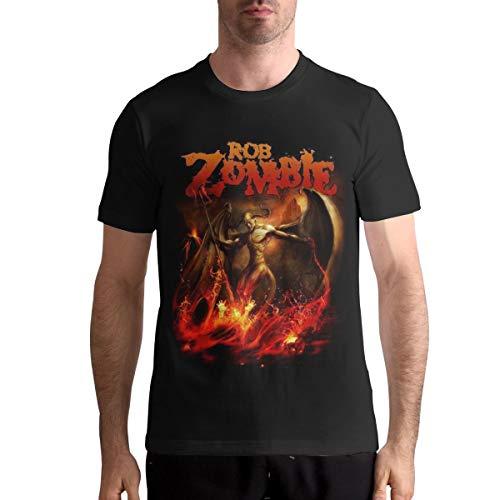 Nathalie R Salmeron Rob Zombie Men's Crew Neck T Shirt M Black