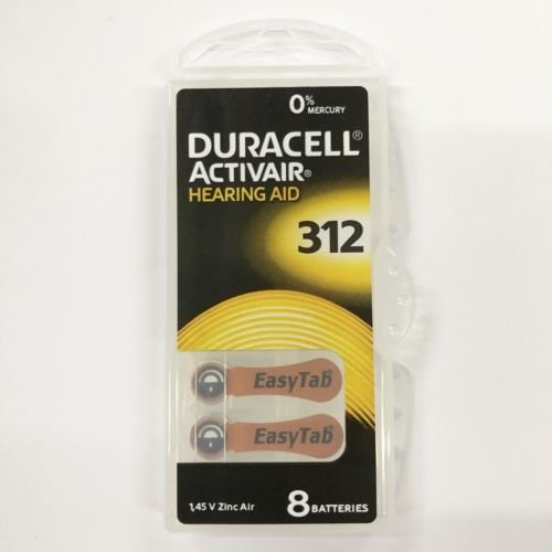 Duracell Hearing Aid Size 312 Batteries, 32 Count by Duracell