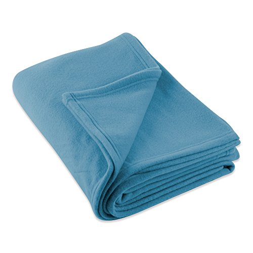 (J&M Home Fashions Luxury Solid Twin/Twin XL Fleece Blanket or Throw (60x96 - Copen Blue) Ultra Soft, Cozy, Warm for Bed, Couch, Sofa, Camping,)