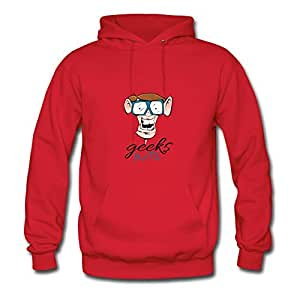 Geeks Unite Red Image Style Personality Women X-large
