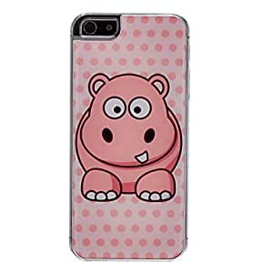 ZL Hippo Pattern Epoxy Hard Case for iPhone 5/5S