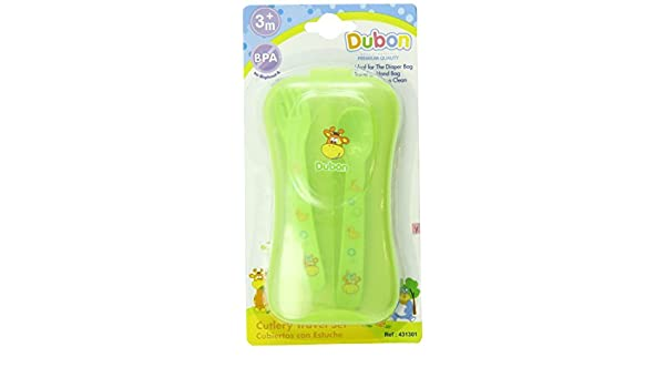 Amazon.com : Bebe Dubon Fork and Spoon with Travel Case, Colors May Vary by bebe : Baby