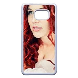 Charlotte Wessels HERMOSAS DELAIN funda Samsung Galaxy S6 Edge Plus funda del teléfono celular de cubierta blanca, casos de funda Samsung Galaxy S6 Edge Plus funda blanca