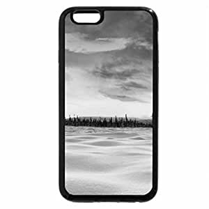 iPhone 6S Plus Case, iPhone 6 Plus Case (Black & White) - winter on the plains at sunset