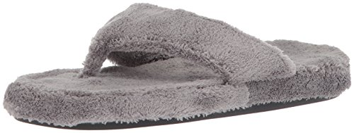 Acorn Women's Spa Thong Slipper, Grey, Large/8-9 B(M) US