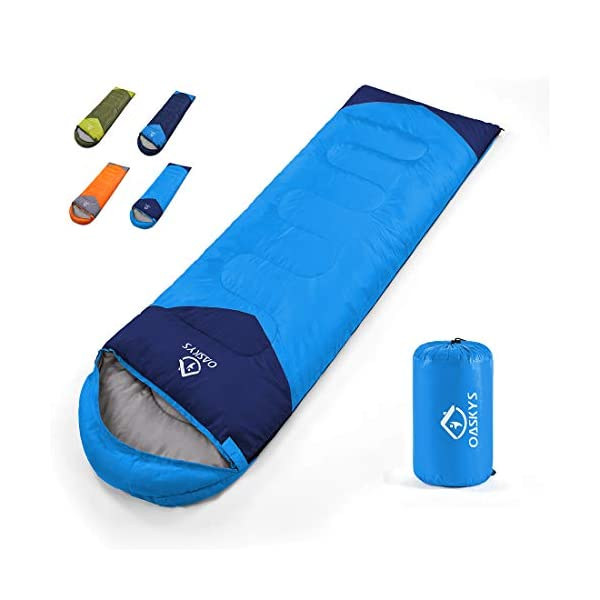 oaskys Camping Sleeping Bag - All Season Warm & Cool Weather - Summer, Spring, Fall, Winter, Lightweight, Waterproof for Adults & Kids - Camping Gear Equipment, Traveling, and Outdoors 6