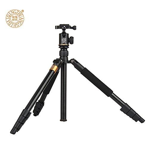 Morjava Q555 profesional portátil magnesio aleación de aluminio Trípode monopié y cabezal de rótula para cámaras réflex digitales cámara réflex Canon Nikon ...
