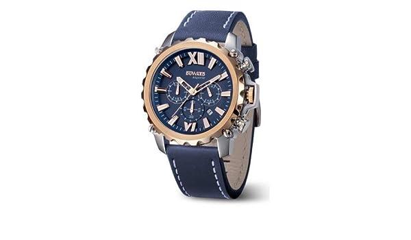 Duward Reloj Hombre Azul con Esfera Azul,acuatico 10ATM.D85516.05: Amazon.es: Relojes