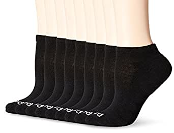 PEDS Women's COOLMAX Low Cut Sock with Footbed Cushioning (9 Pair Pack)