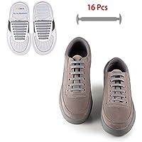 [Patrocinado] No Tie agujetas de zapatos para hombres y mujeres–Easy Install–Unisx Junta de silicona elástico Athletic–Zapatos de cordones, compatible con la mayoría de los Tipos para zapatillas botas, Shoes, Deporte Zapatos y zapatos de ocio