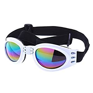 Foldable Dog Sunglasses UV Eye Protection Glasses Pets Grooming Accessories - White