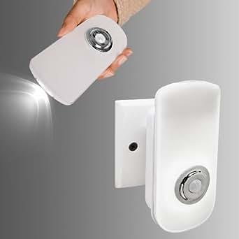 SoBuy® Multifunción Linterna LED con sensor, luz de la noche del LED, linterna de bolsillo, ELL16, ES