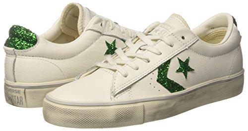Converse Vulc Distressed Ox star White Sneakers Femme Leather turtledove Pro emerald Blanc TTCnFqx4