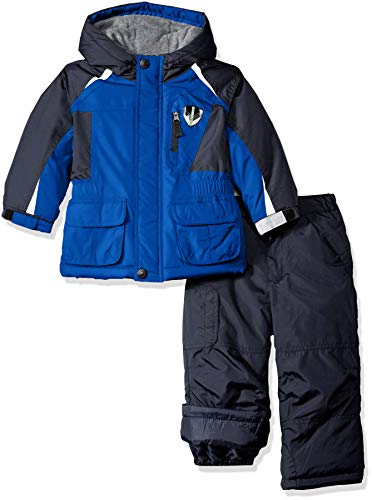 London Fog Boys' Little' Ski Jacket & Ski Pant 2-Piece Snowsuit, Real Blue, 4 2 Piece Winter Jacket