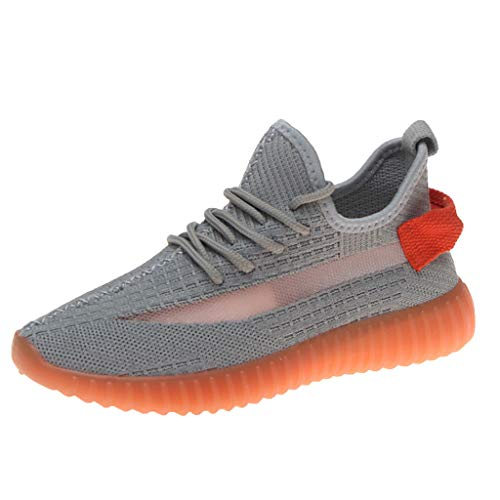 (JJHAEVDY Women's Fluorescence Sneakers Mesh Breathable Super Lightweight Sneakers Non-Slip Night Running Sneakers)