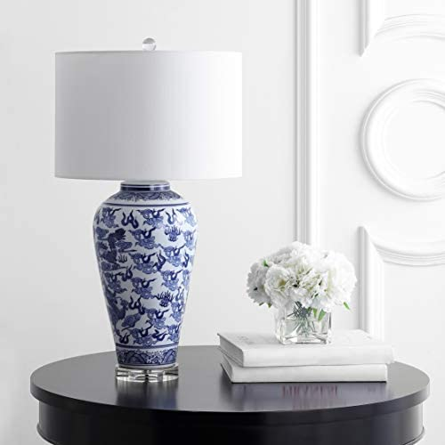 Safavieh TBL4137A Lighting Anson Blue and White 28-inch (LED Bulb Included) Table Lamp
