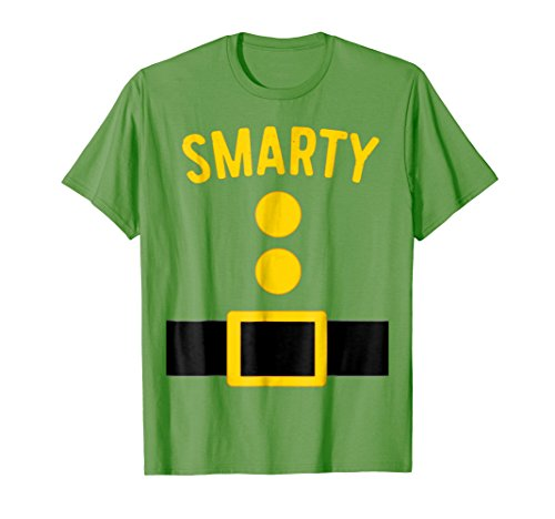 Mens Smarty Dwarf Costume T-Shirt Funny Halloween Gift XL Grass