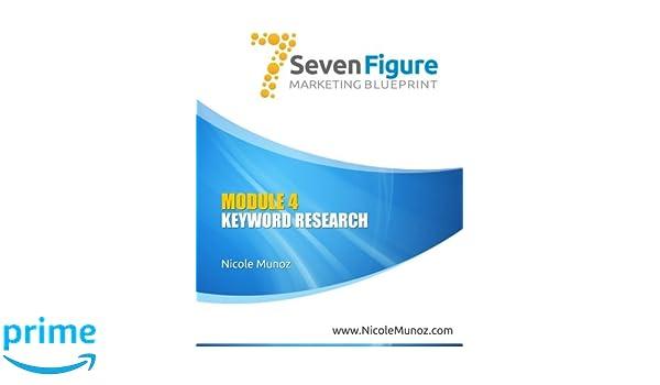 7 FIGURE MARKETING BLUEPRINT Module 4: Keyword Research 2nd Ed: Volume 4: Amazon.es: Nicole Munoz: Libros en idiomas extranjeros