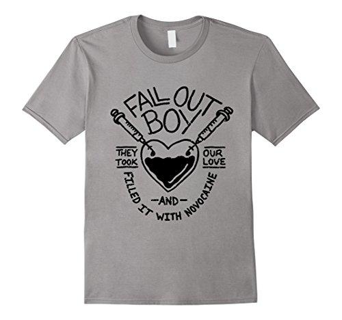 Mens Fall Out Boy - Novocain Tee Medium Slate