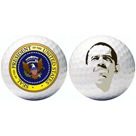 3 Barack Obama Golf Balls w/Presidential Seal, Outdoor Stuffs