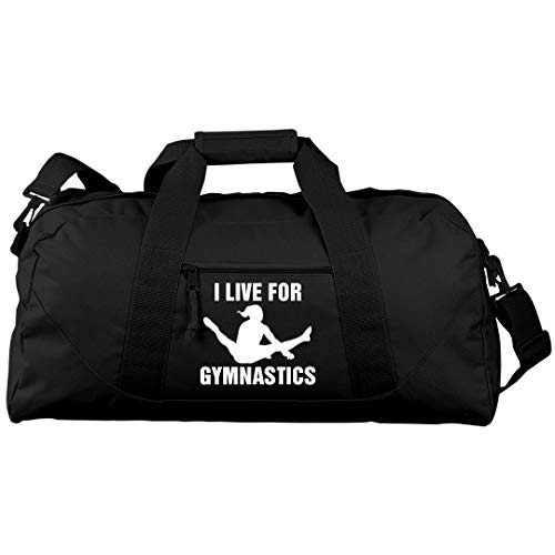 I Live For Gymnastics: Liberty Large Square Duffel Bag by Customized Girl