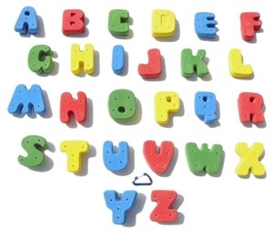 XL Screw-On Alphabet ABC Set l Climbing Holds l Mixed Bright Tones