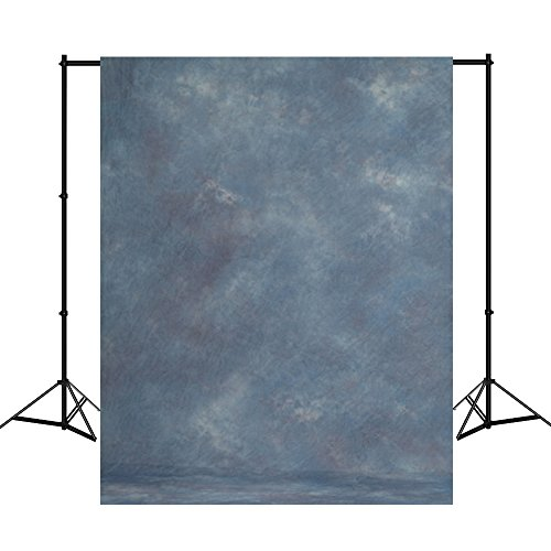 Mehofoto Muslin Photography Backdrops Hand Painted Navy Blue Photo Background 10X20ft Blue Hand Painted Muslin