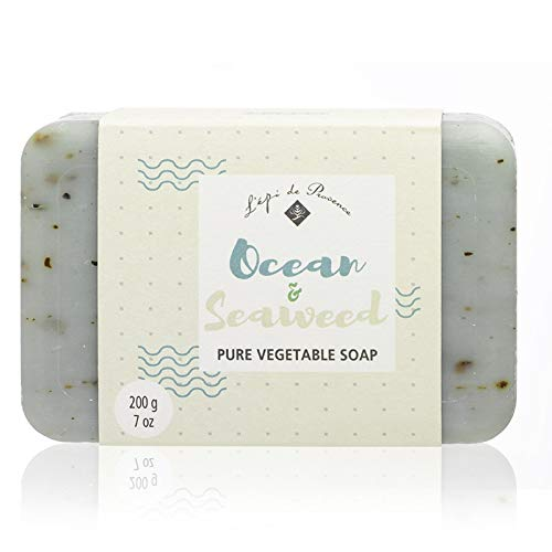 12 Bars of L'epi de Provence Triple Milled Ocean & Seaweed Shea Butter Vegetable Soaps from France 200g