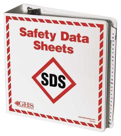 GHS SAFETY SDS Binder with A-Z Dividers