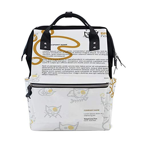 HangWang Diaper Bags Corporate Identity Fashion Mummy Backpack Multi Functions Large Capacity Nappy Bag Nursing Bag for Baby Care for Traveling