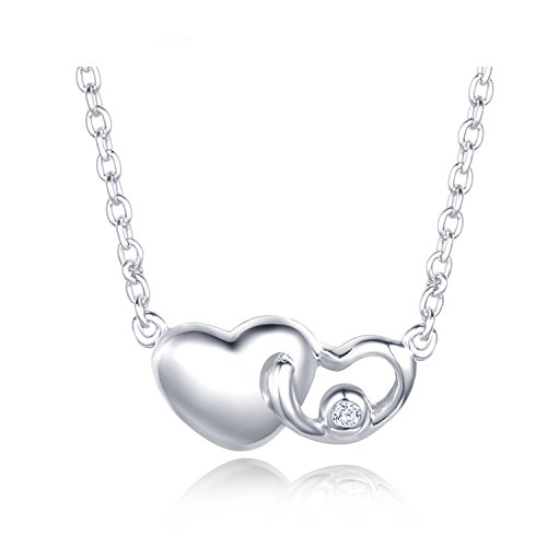 Bang-pa Luxury 0.01ct Diamond Necklaces Women 925 Sterling Silver 18