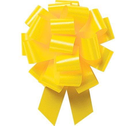 Yellow Ribbon Christmas (A1BakerySupplies® Gift Wrap Christmas Wedding Gift Wrap Pull Bows Large Pull String Bows 5.5 Inch 20 Loop - Set of 10 (Daffodil Flora Satin(Yellow)))