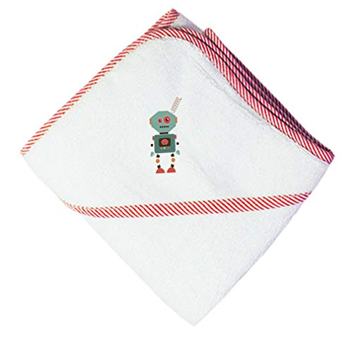 Robot Boys-Girls Cotton Baby Hooded Towel - Red, One Size ()