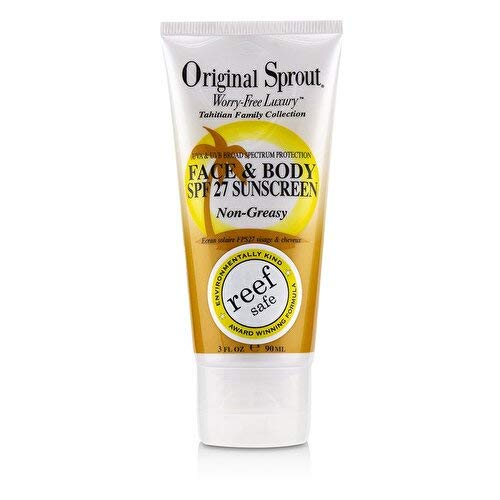 Original Sprout Face and Body Sunscreen Natural and Non-Greasy Sunscreen for All Ages,3 ounce