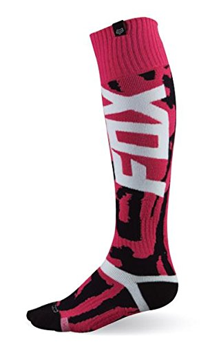 Fox Racing Kids Boots - Fox Racing MX Marz Youth Girls MX Motorcycle Socks - Black/Pink/Large