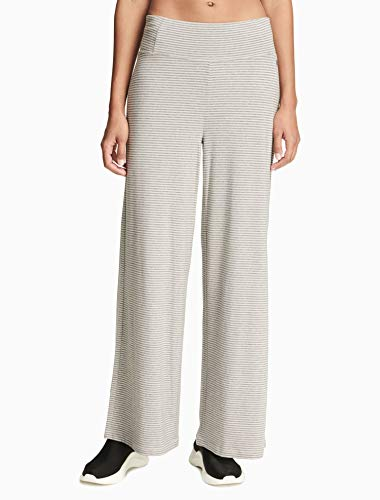 Micro Stripe Pants - Calvin Klein Womens Performance Micro-Stripe Wide-Leg Pants Color Optic Heather Black Combo Size Large