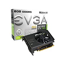 EVGA GeForce GTX 750 Ti Superclocked with G-SYNC Support 2GB GDDR5 128 Bit, Dual-Link, DVI-I, HDMI, DP 1.2 Graphics Card (02G-P4-3753-KR)