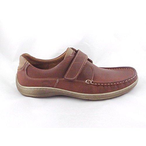 Softwalk braun Leder Casual Schuh mit Klettverschluss