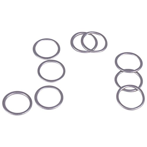 Porcelynne Antiqued Silver Metal Alloy Replacement Bra Strap Ring - 3/8'' (10mm) Opening - 100 Pairs (200 Pieces) by Porcelynne