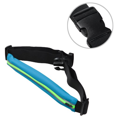 Avarious Runner's Waist Pack Belt for Asus ZenFone 2E, 5.0-inch, Blue/Teal (2e Id Card)