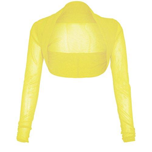 Taille 50 Boléro Manches Grande Femmes 36 Cardigan Maille Libres Limone Longues Nouveaux 7wqEBw