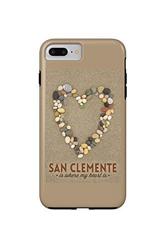 San Clemente Is Where My Heart Is - California - Stone Heart on Sand (iPhone 7 Plus Cell Phone Case, - Is California Where Clemente San