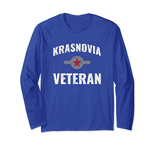 War S/s Tee (Unisex US Army War In Krasnovia Veteran T Shirt 20570 XL: Royal Blue)