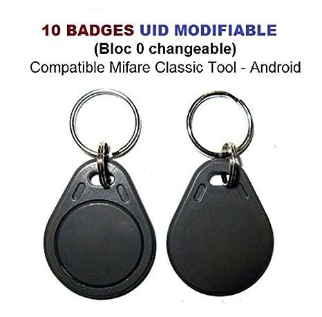 Sektor 0 austauschbar Set von 10 RFID Plaketten Mif 1K 13,56Mhz UID /änderbar