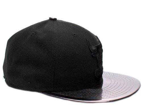 New Era 59Fifty Chicago Bulls Meddle'd Fitted Hat 5950-MEDDLEDCHIBULHC Black 7 3/8