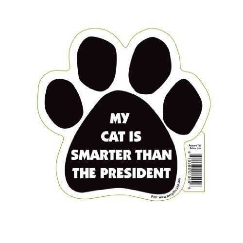 - My Cat Is Smarter Than The President Paw Magnet