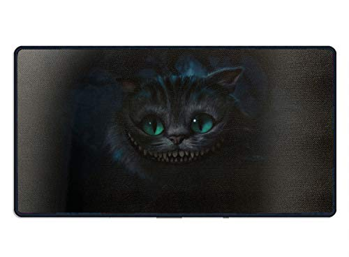 (Cheshire Cat Oversized Printed Mousepad Non Slip Rubber Mice Mat Gaming Mouse Pad 23.6