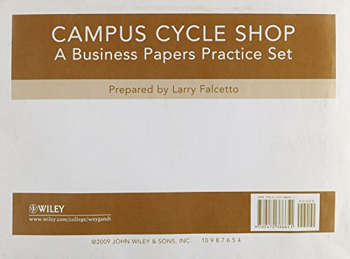 Campus Cycle Practice Set to accompany Accounting Principles
