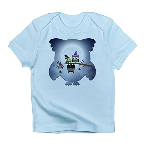Truly Teague Infant T-Shirt Little Spooky Vampire Owl With Friends - Sky Blue, 18 To 24 -